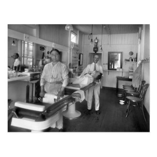 Barber Shop Postcard