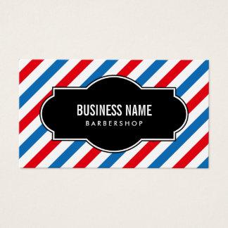 Barber Shop Professional Blue & Red Stripes