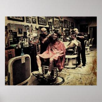 Barber Shop Quartet Poster
