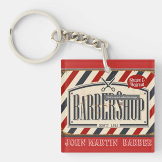 Barber Shop Shave & Haircut Barbers KeyChains
