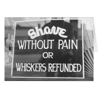 Barber Shop Sign, 1942 Greeting Card