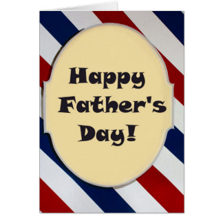 barber shop sign father's day Card