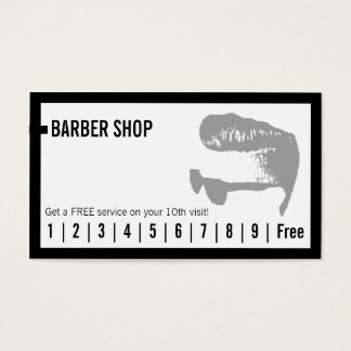 Barber Shop Simple Frame Loyalty Punch