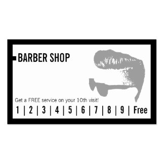 Barber Shop Simple Frame Loyalty Punch Pack Of Standard Business Cards