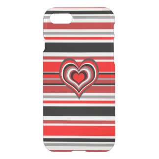 Barber shop stripes with heart red iPhone 7 case