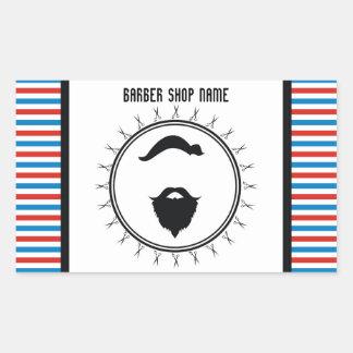 Barber shop template rectangular sticker