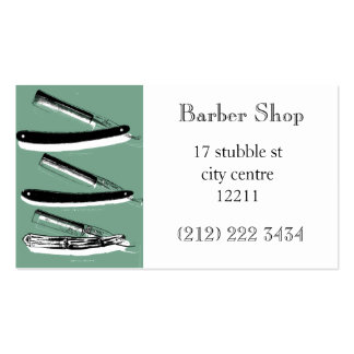 Barber shop themed business card
