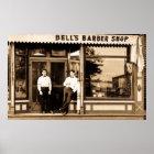 Barber Shop Vintage Retro Americana Poster
