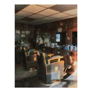 Barber Shop With Sun Streaming Through Window 2 Posters