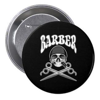 Barber Skull 7.5 Cm Round Badge