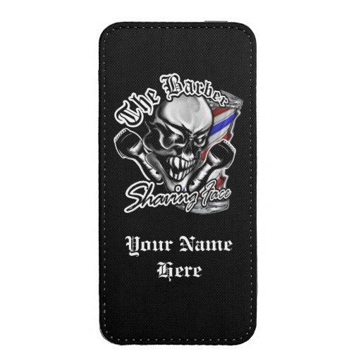 Barber Skull Phone Pouch