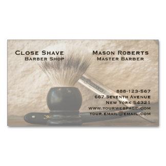 Barber Straight Edge Razor Shaving Brush Magnetic Business Cards