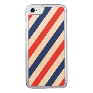 Barber Stripes Carved iPhone 7 Case