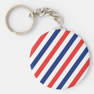 Barber Stripes Key Ring
