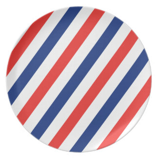 Barber Stripes Party Plates