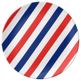 Barber Stripes Porcelain Plates