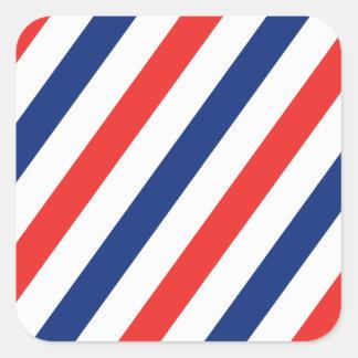 Barber Stripes Square Sticker