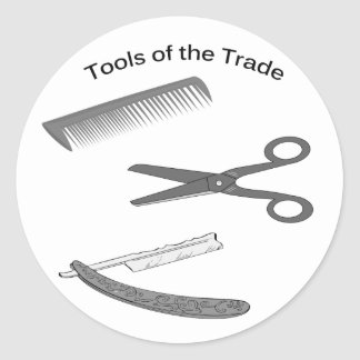 Barber Tools of The Trade Classic Round Sticker