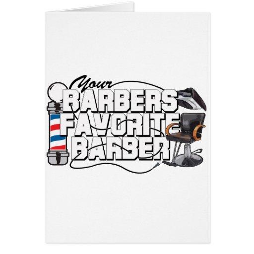 Barbers Favorite Barber Cards