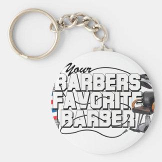Barbers Favorite Barber Key Ring