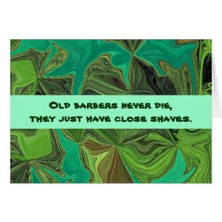 barbers humor greeting card