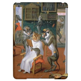 Barber's shop with Monkeys and Cats Case For iPad Air