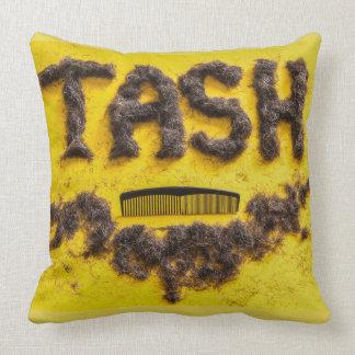 Barbers Tash symbol made from hair Cushion