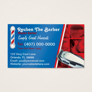 Barbershop Barber (Barber pole and clippers)