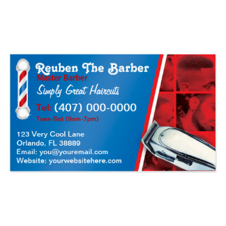 Barbershop Barber (Barber pole and clippers) Pack Of Standard Business Cards