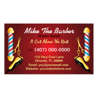 Barbershop (Barber pole and clippers) Pack Of Standard Business Cards