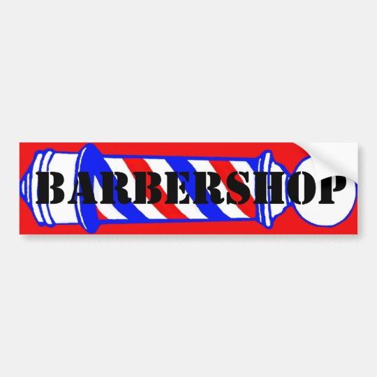 Barbershop Bumper Sticker