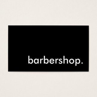 barbershop. business card