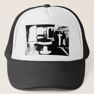 barbershop chair trucker hat