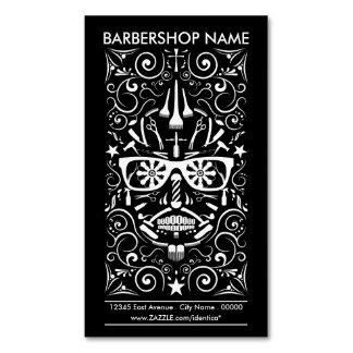 barbershop dia de los muertos magnetic business cards