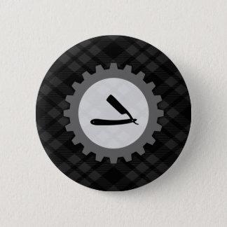 barbershop gear 6 cm round badge
