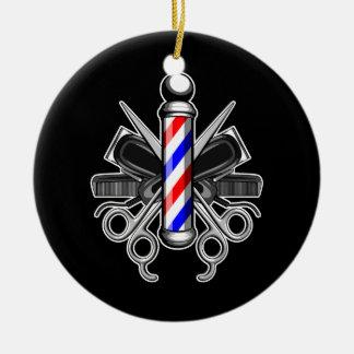 Barbershop Logo Christmas Ornament