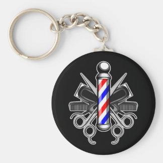 Barbershop Logo Key Ring