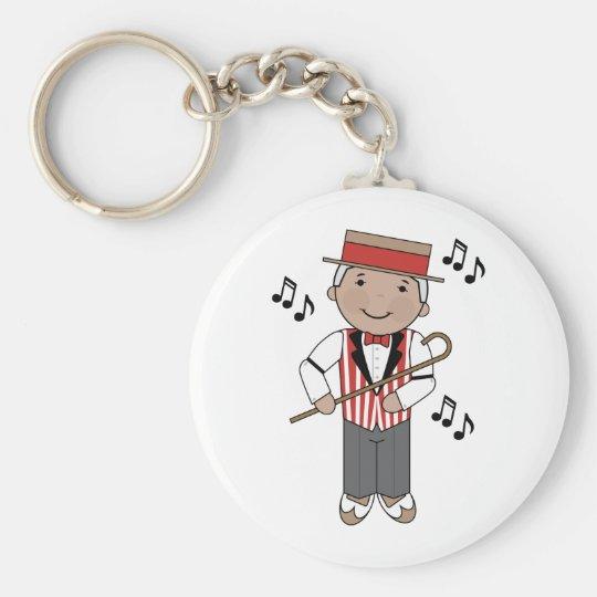 Barbershop Music Singer Gift Key Ring