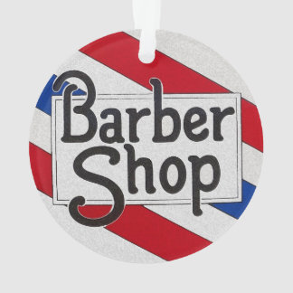 Barbershop Ornament