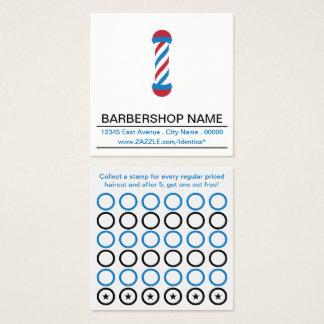 barbershop pole stamp card