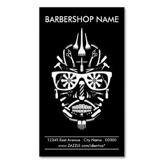 barbershop punk calavera 	Magnetic business card
