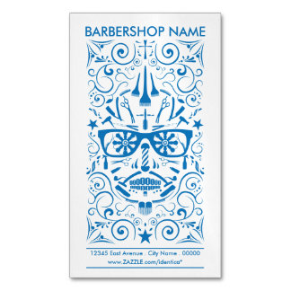 barbershop punk skull 	Magnetic business card