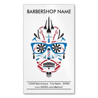 barbershop punk skull magnetic business cards