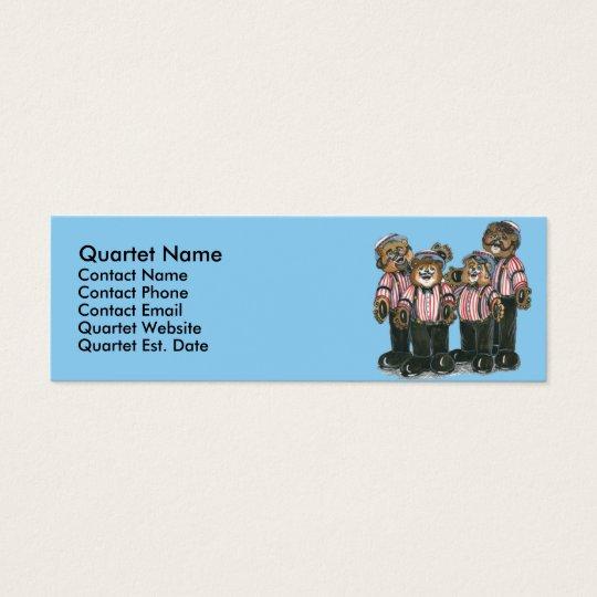 Barbershop Quartet Business Card