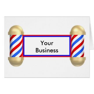 Barbershop scroll card
