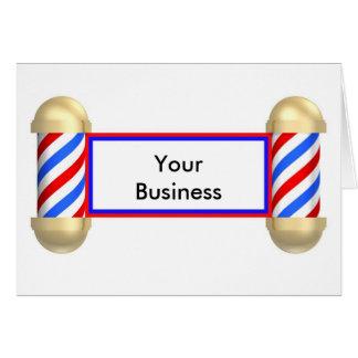 Barbershop scroll greeting card