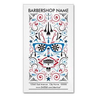 barbershop sugar skull magnetic business cards