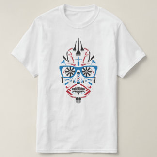 barbershop sugar skull T-Shirt