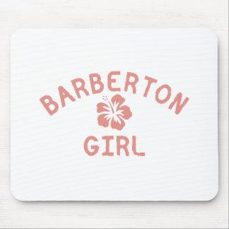 Barberton Pink Girl Mouse Pad