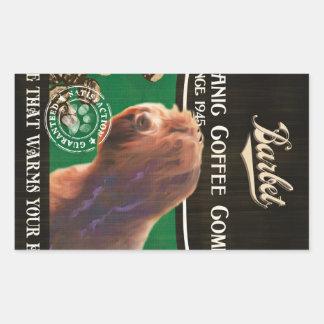 Barbet Brand – Organic Coffee Company Rectangular Sticker